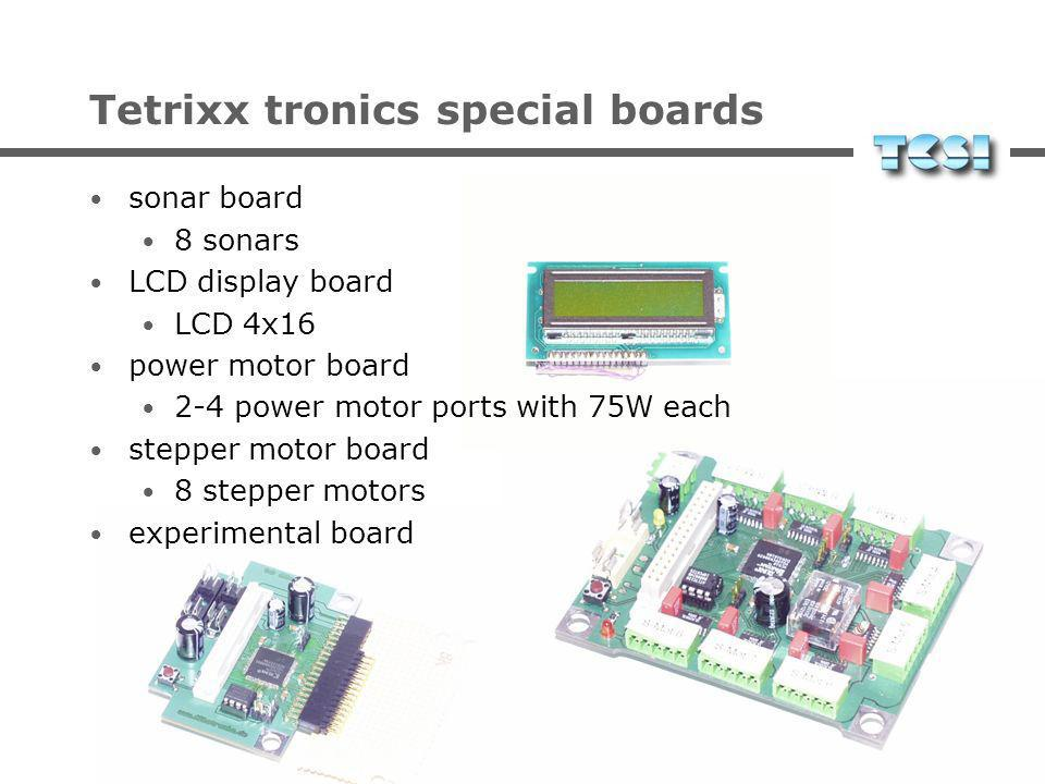 Tetrixx tronics special boards