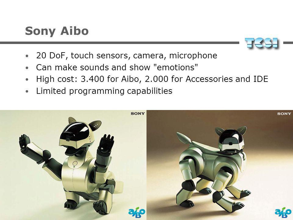 Sony Aibo 20 DoF, touch sensors, camera, microphone