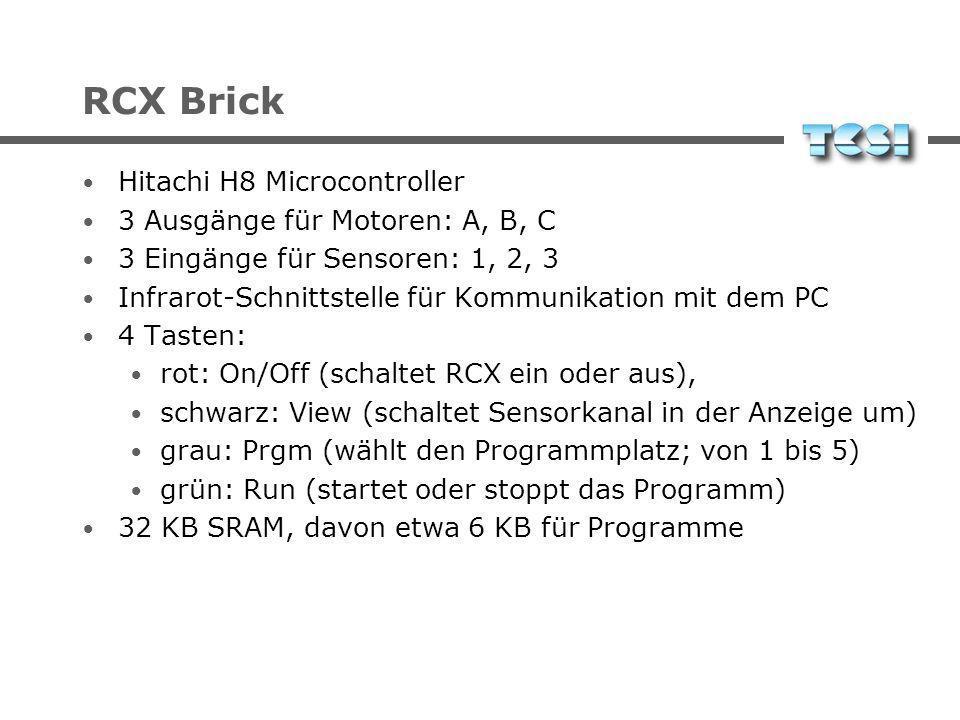 RCX Brick Hitachi H8 Microcontroller 3 Ausgänge für Motoren: A, B, C