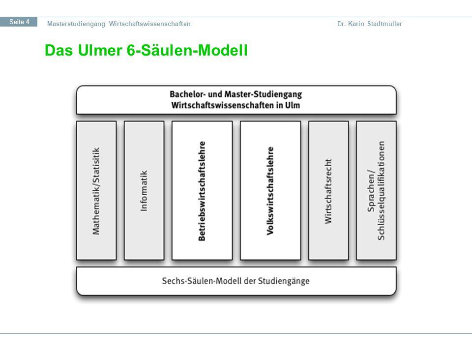 Das Ulmer 6-Säulen-Modell