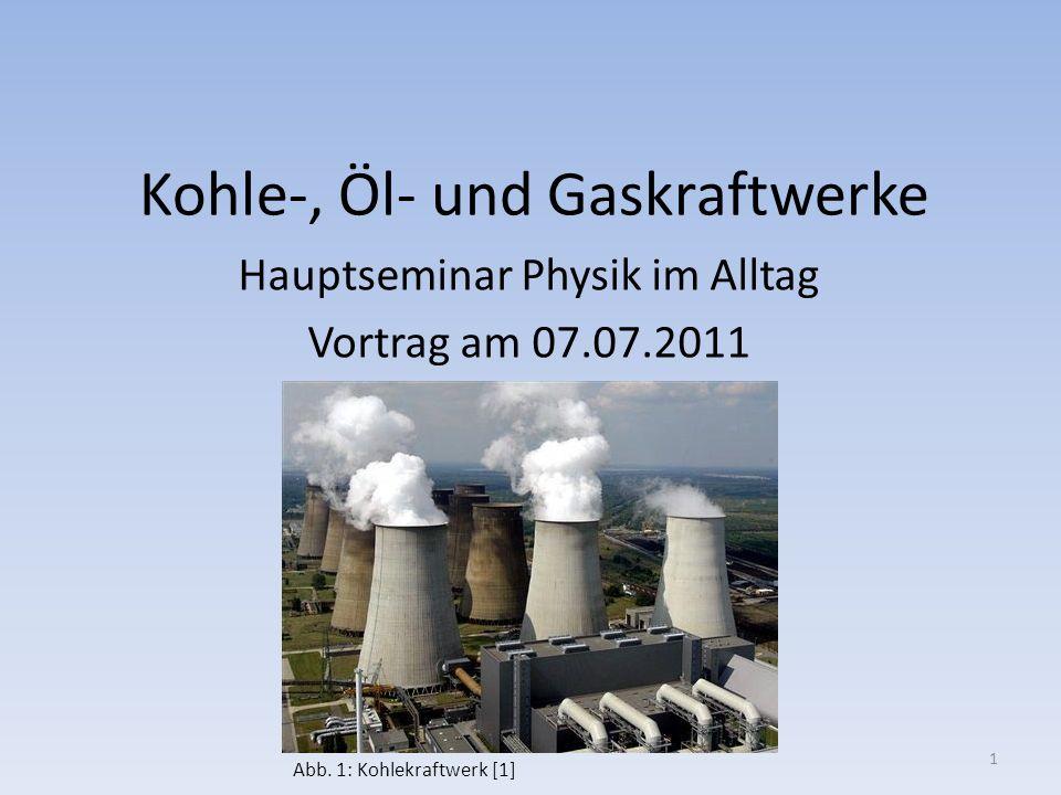Kohle-, Öl- und Gaskraftwerke