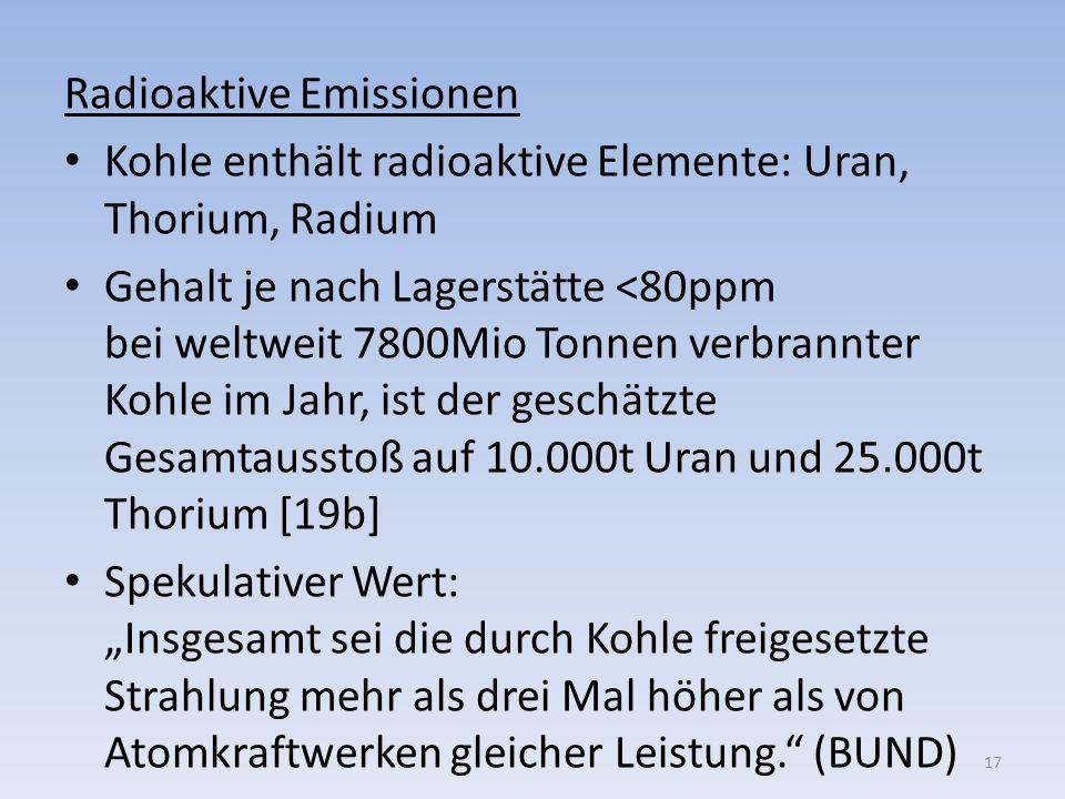 Radioaktive Emissionen