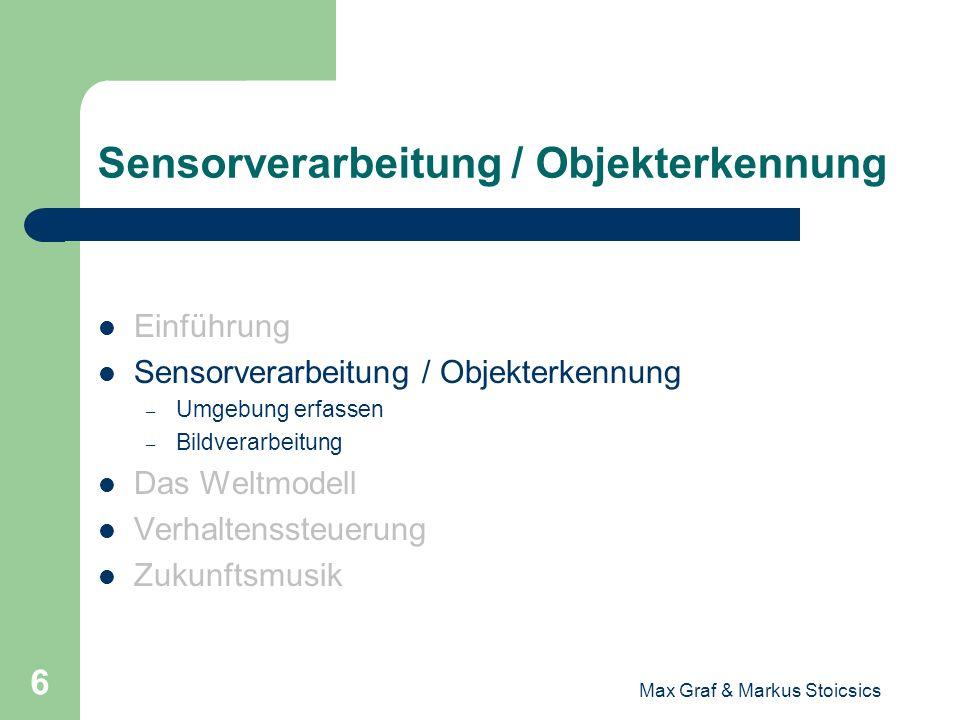 Sensorverarbeitung / Objekterkennung