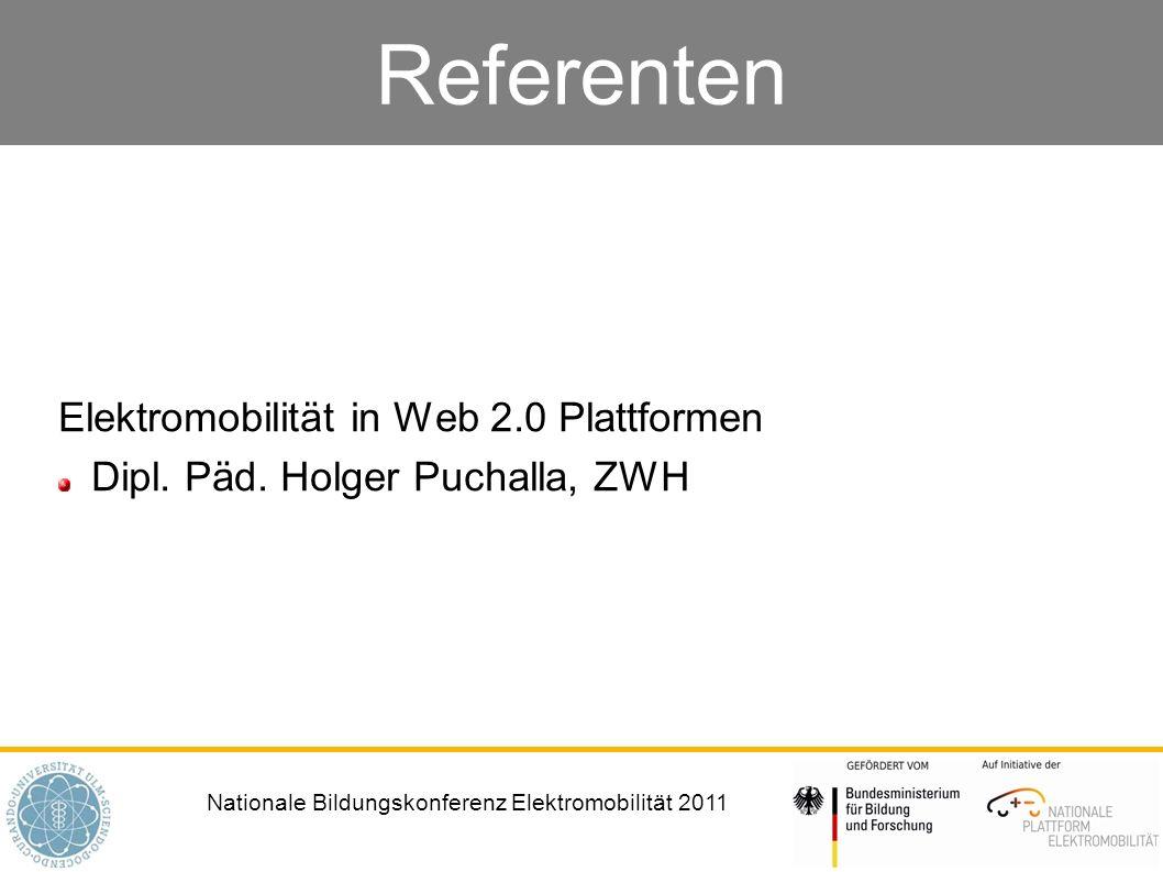 Referenten Elektromobilität in Web 2.0 Plattformen