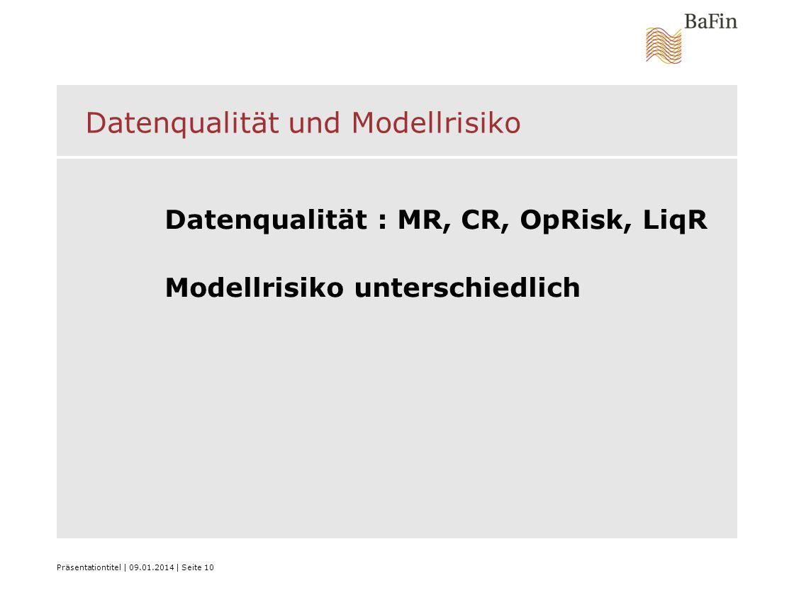 Datenqualität und Modellrisiko
