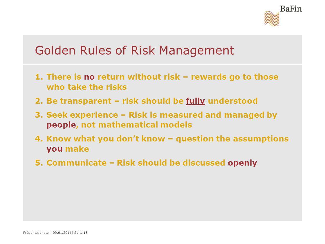 Golden Rules of Risk Management