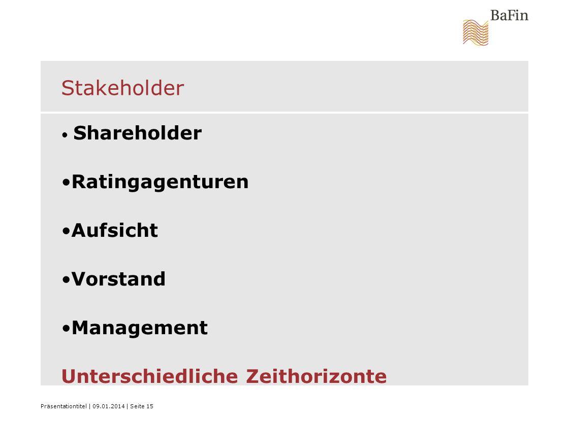 Stakeholder Ratingagenturen Aufsicht Vorstand Management