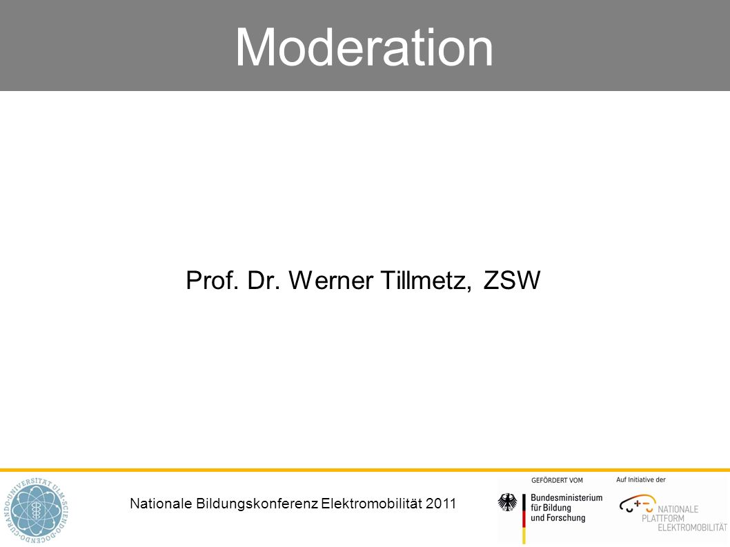 Prof. Dr. Werner Tillmetz, ZSW