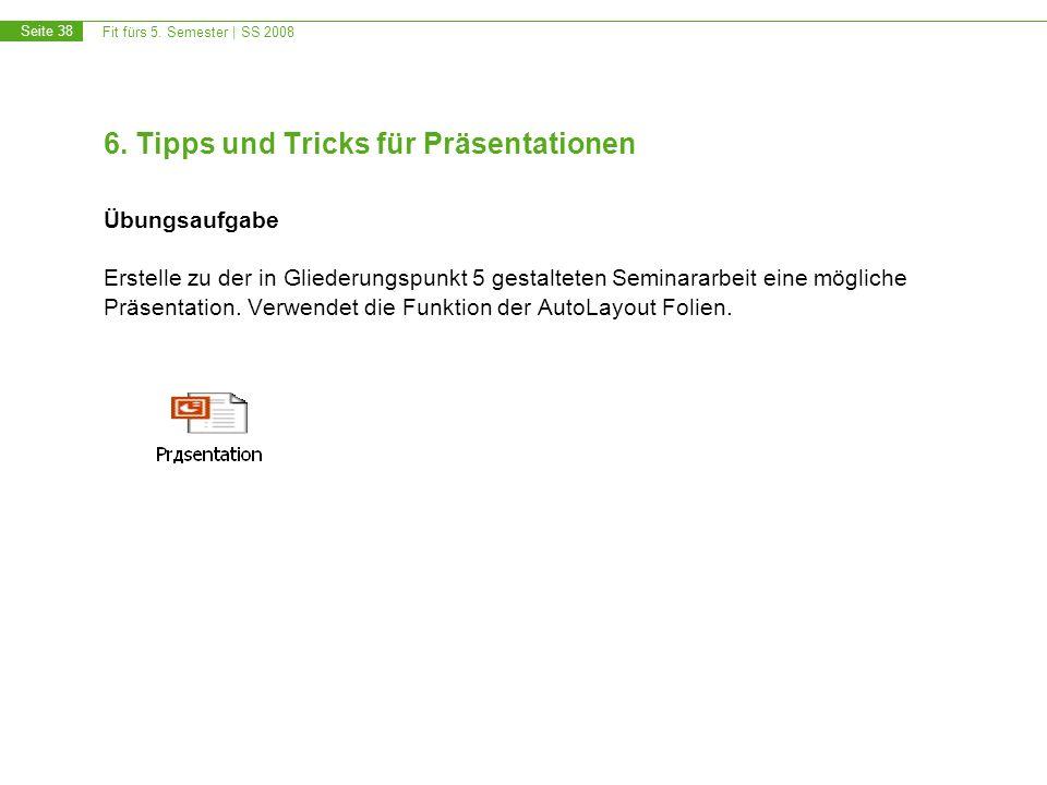 6. Tipps und Tricks für Präsentationen