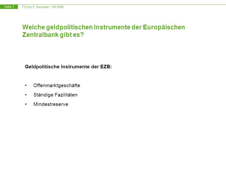 Welche geldpolitischen Instrumente der Europäischen Zentralbank gibt es
