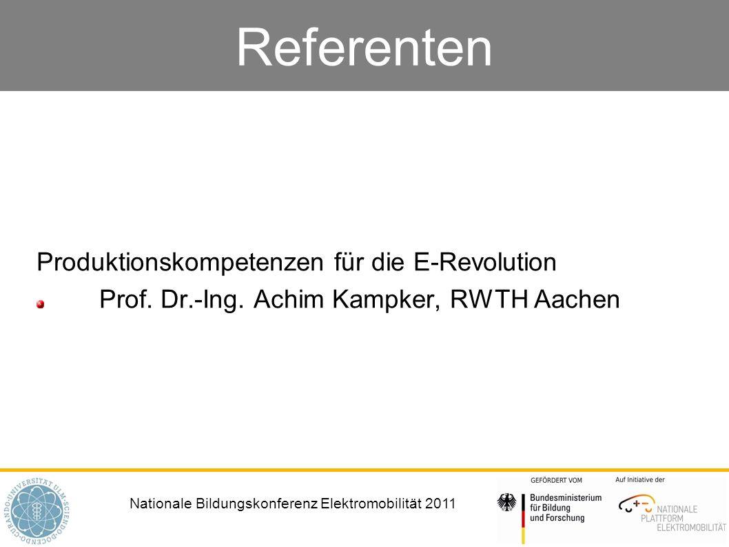 Referenten Produktionskompetenzen für die E-Revolution