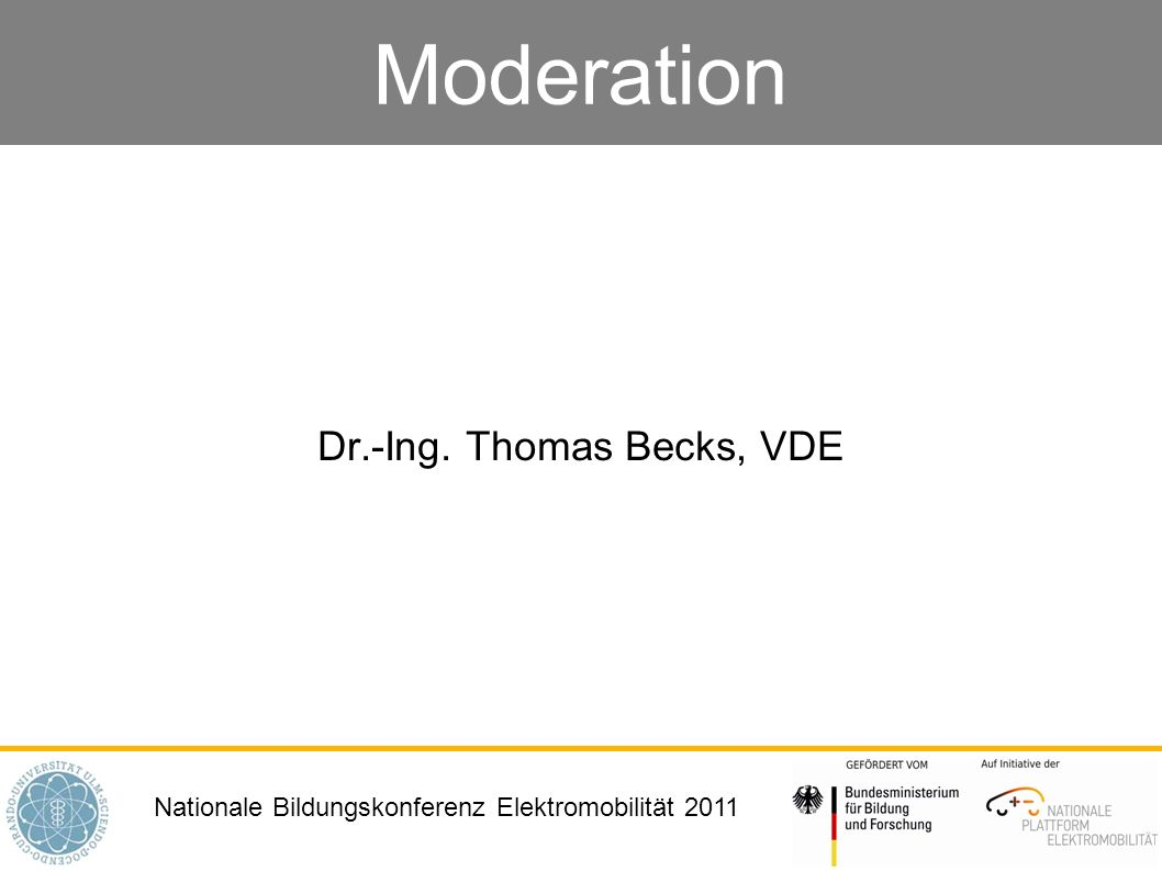 Dr.-Ing. Thomas Becks, VDE