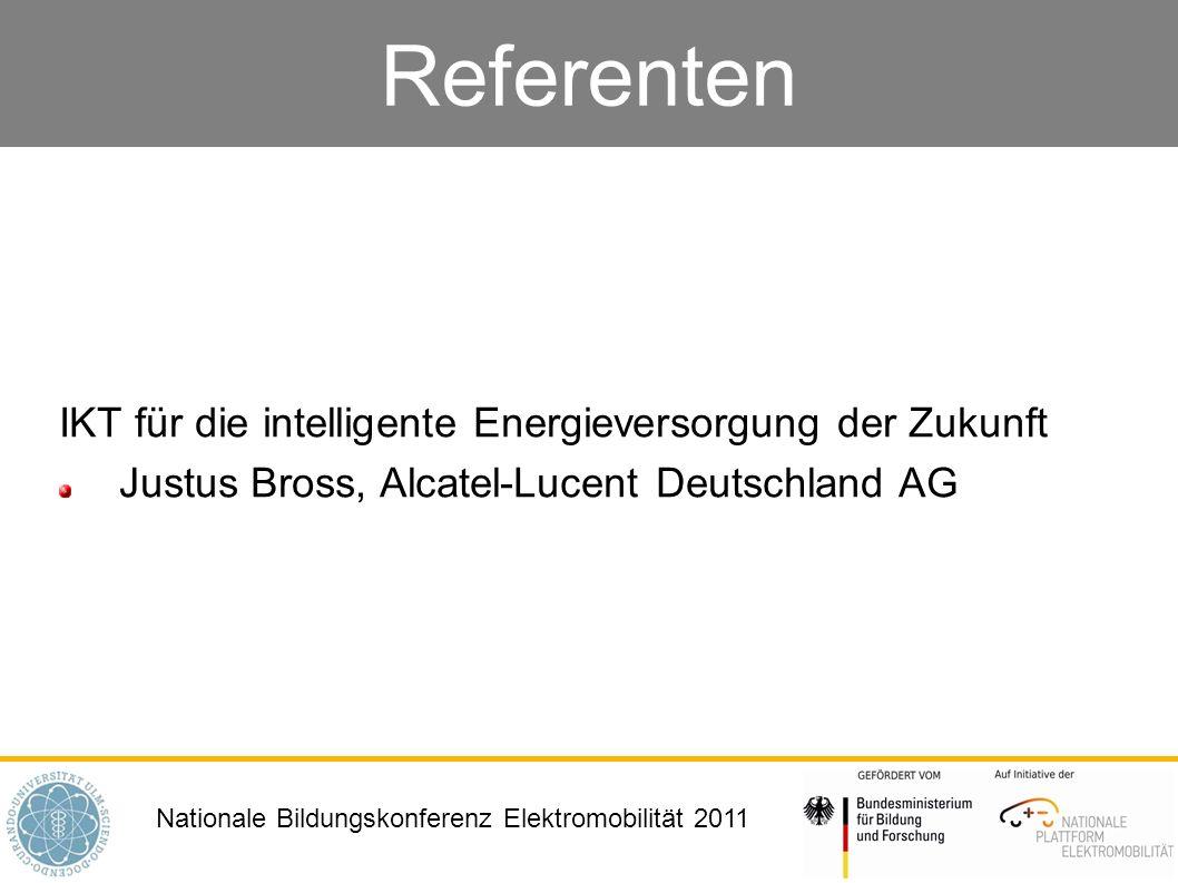 Referenten IKT für die intelligente Energieversorgung der Zukunft