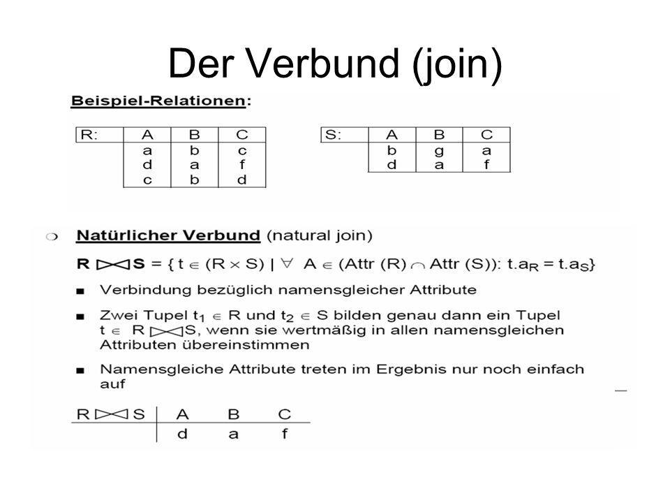 Der Verbund (join)