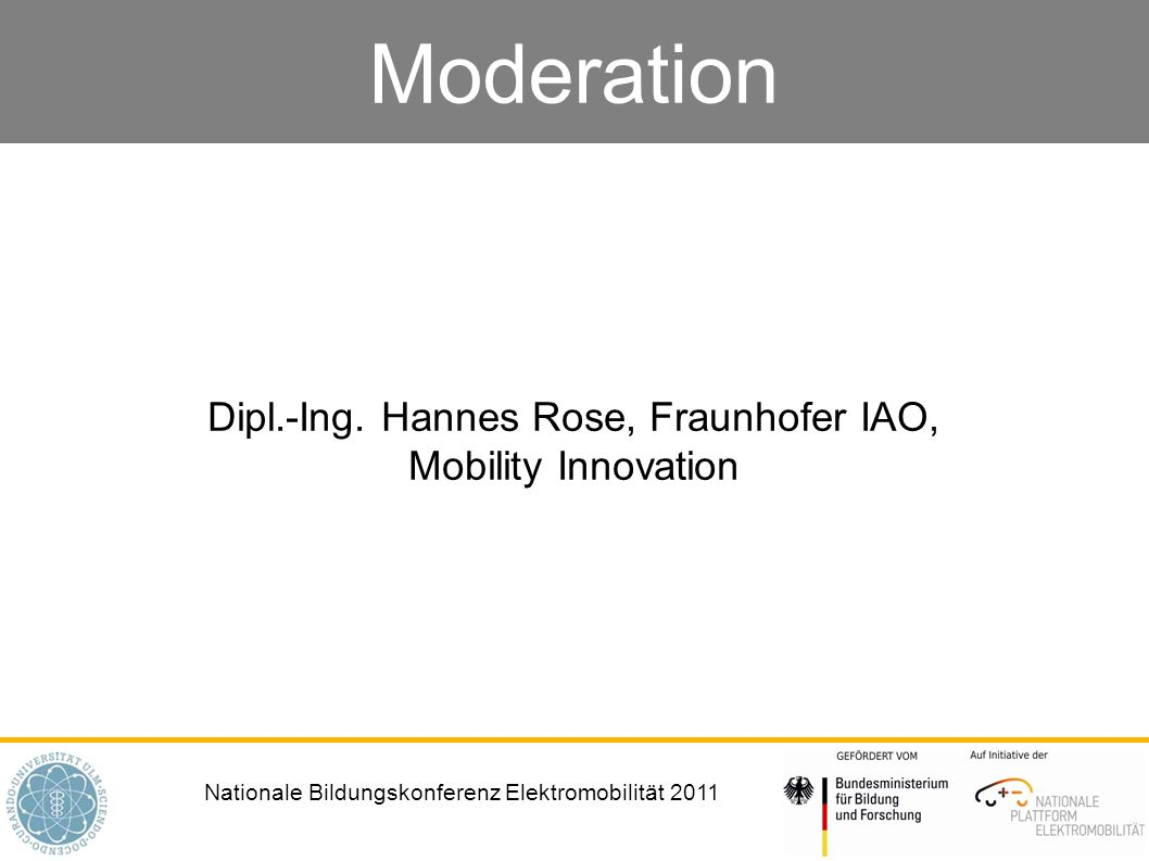 Dipl.-Ing. Hannes Rose, Fraunhofer IAO, Mobility Innovation