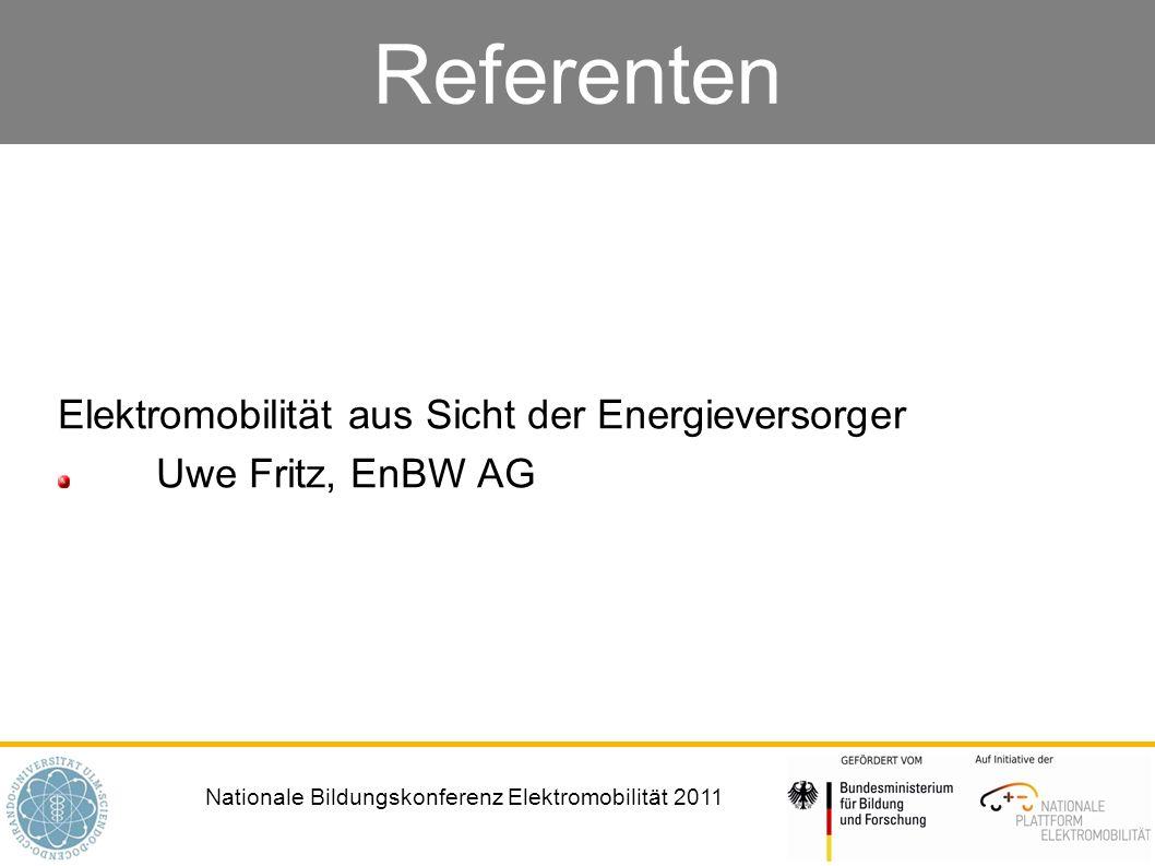 Elektromobilität aus Sicht der Energieversorger Uwe Fritz, EnBW AG