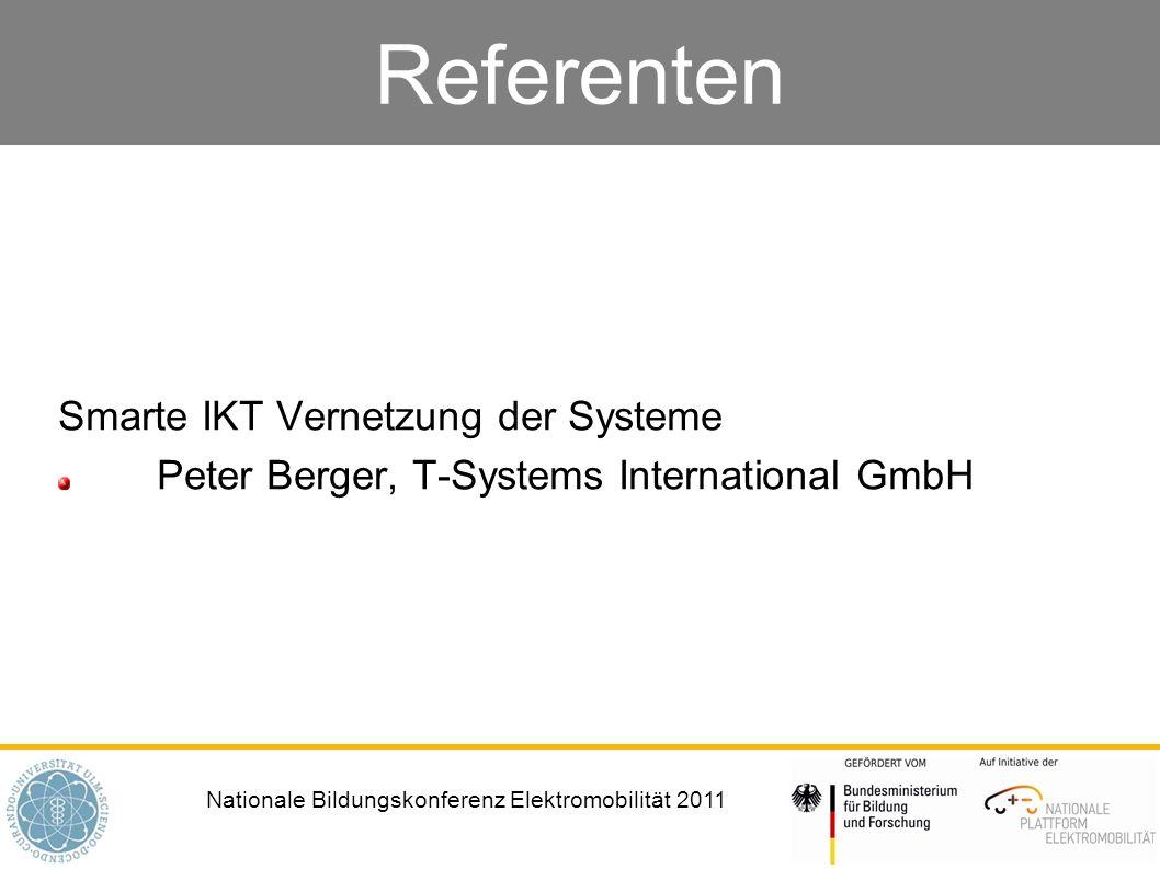 Referenten Smarte IKT Vernetzung der Systeme
