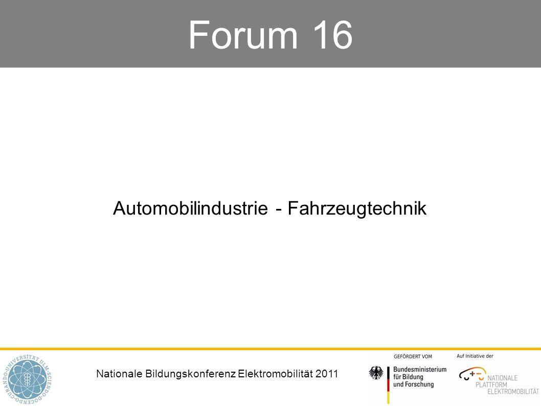 Automobilindustrie - Fahrzeugtechnik