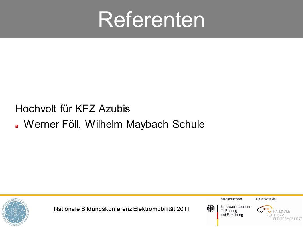 Hochvolt für KFZ Azubis Werner Föll, Wilhelm Maybach Schule