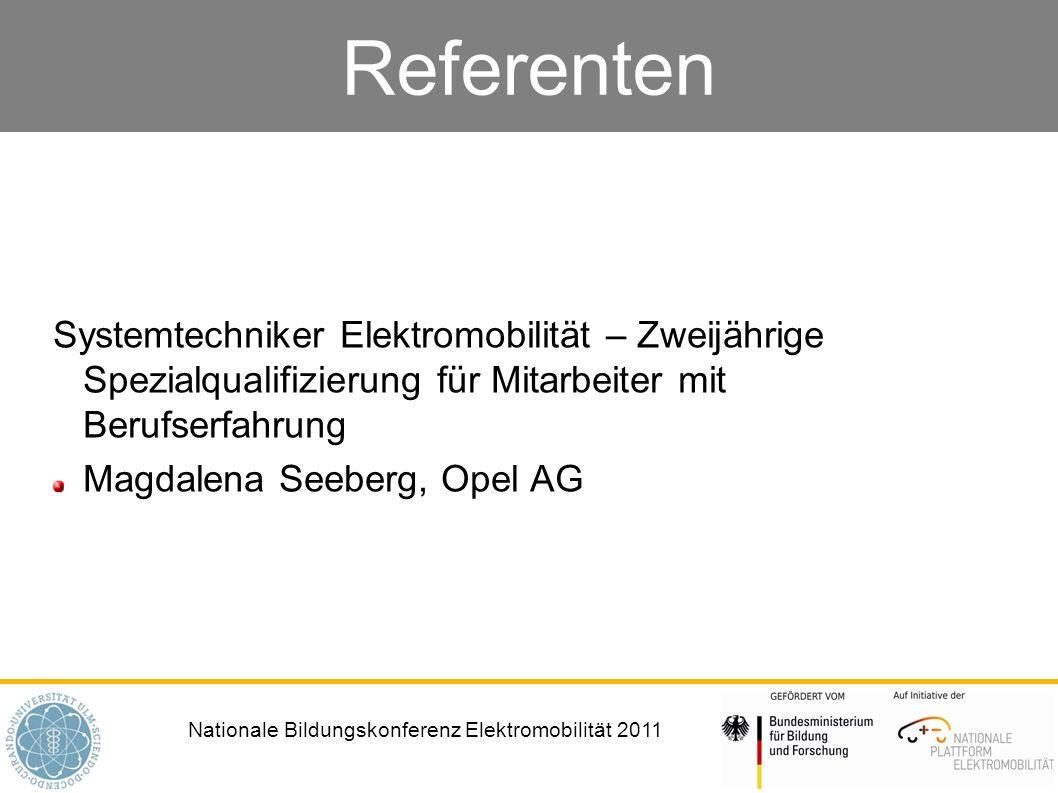 Referenten Systemtechniker Elektromobilität – Zweijährige Spezialqualifizierung für Mitarbeiter mit Berufserfahrung.