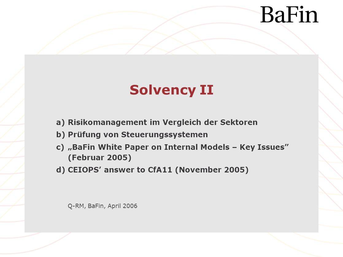 Solvency II Risikomanagement im Vergleich der Sektoren