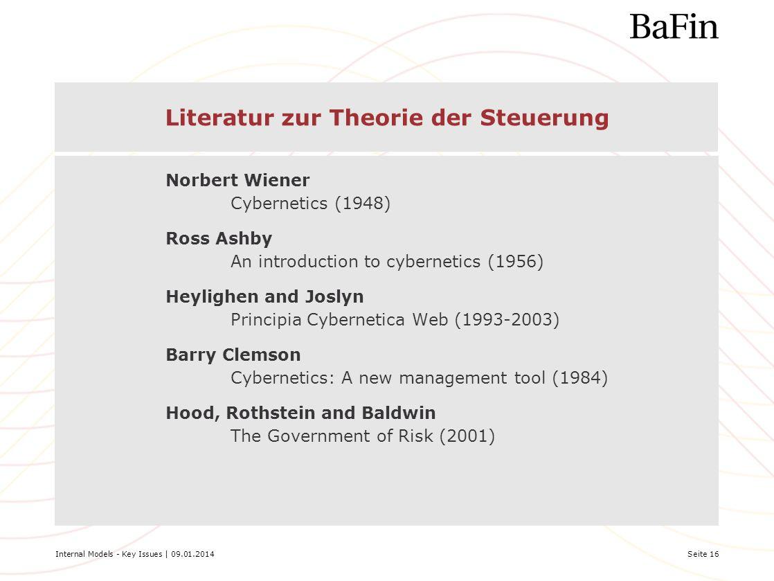 Literatur zur Theorie der Steuerung