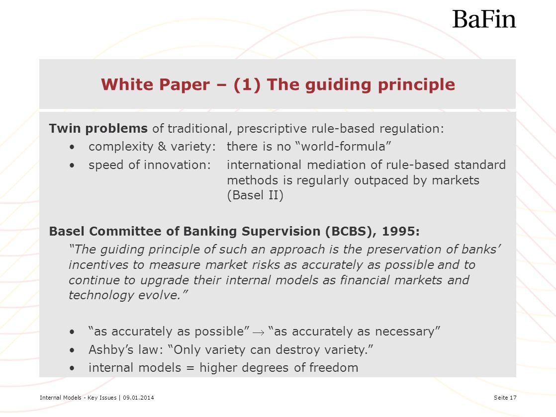 White Paper – (1) The guiding principle