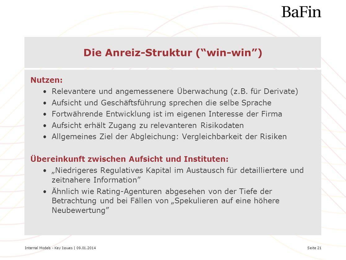 Die Anreiz-Struktur ( win-win )