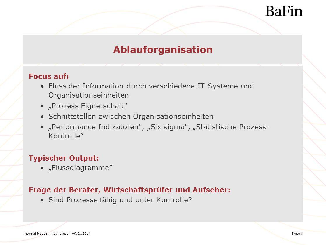 Ablauforganisation Focus auf: