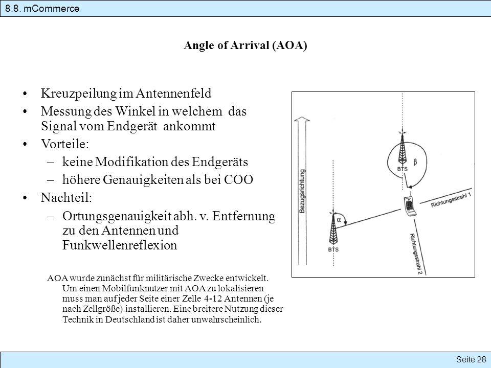 Kreuzpeilung im Antennenfeld