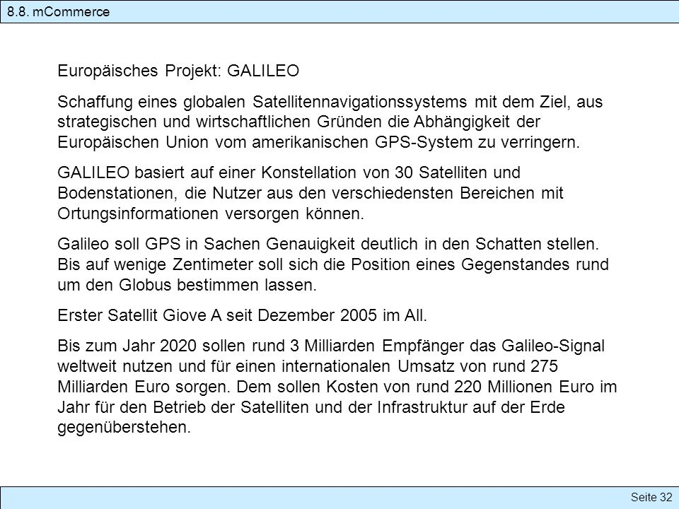 Europäisches Projekt: GALILEO