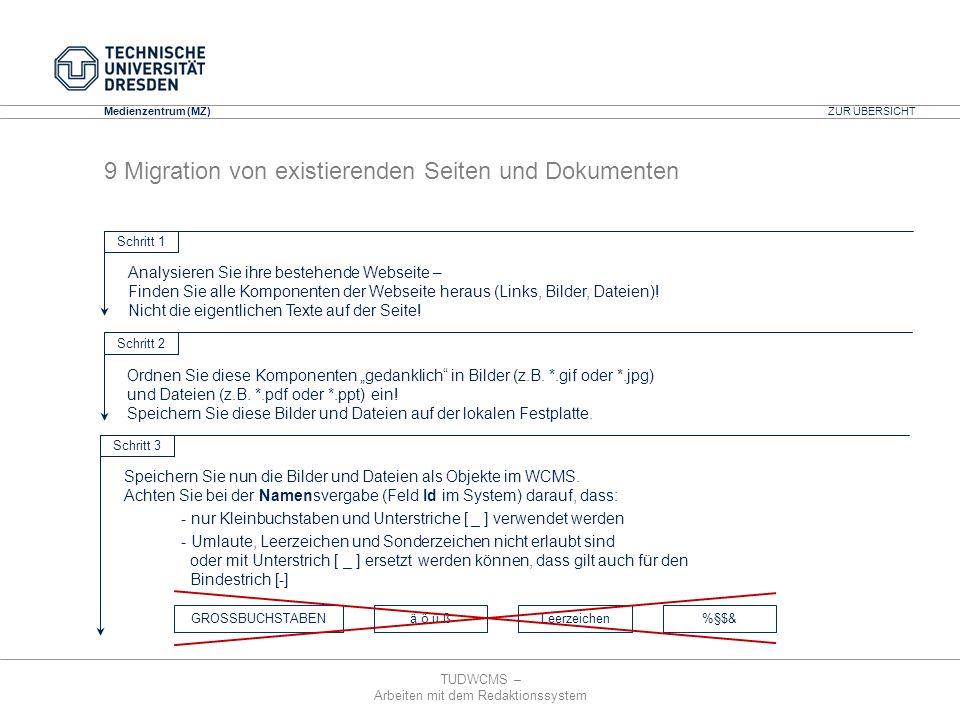 9 Migration von existierenden Seiten und Dokumenten
