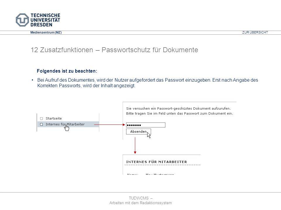 12 Zusatzfunktionen – Passwortschutz für Dokumente