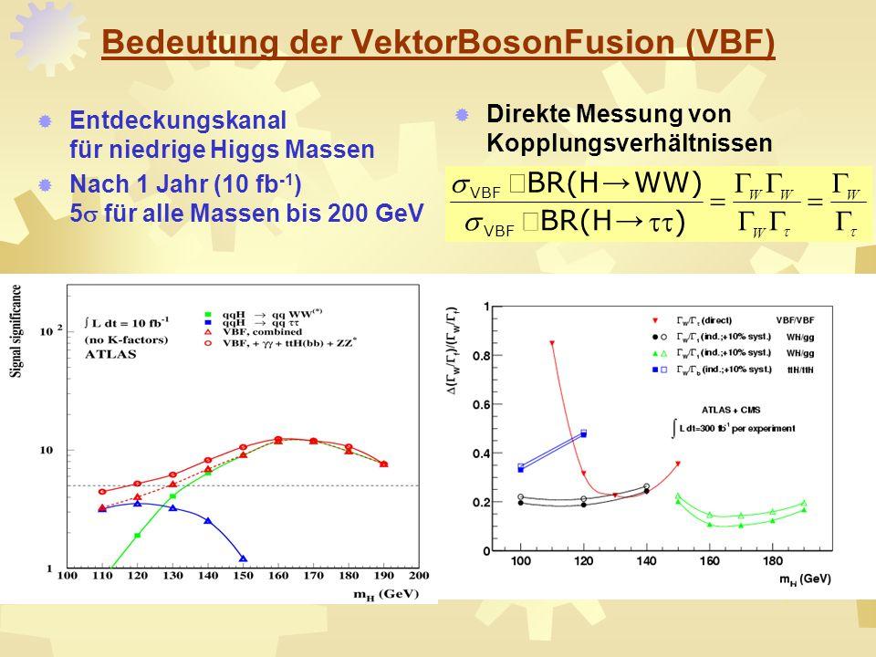 Bedeutung der VektorBosonFusion (VBF)
