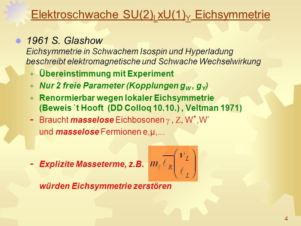 Elektroschwache SU(2)LxU(1)Y Eichsymmetrie