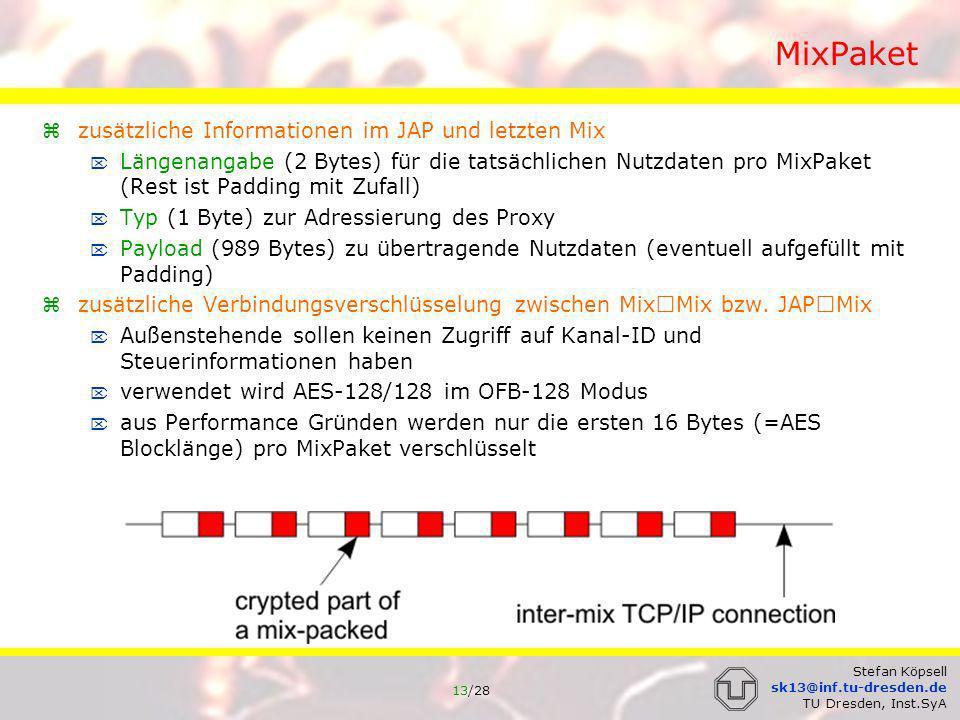 MixPaket zusätzliche Informationen im JAP und letzten Mix