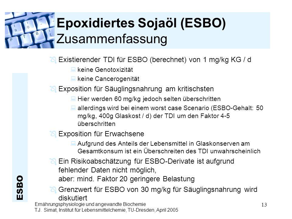 Epoxidiertes Sojaöl (ESBO) Zusammenfassung
