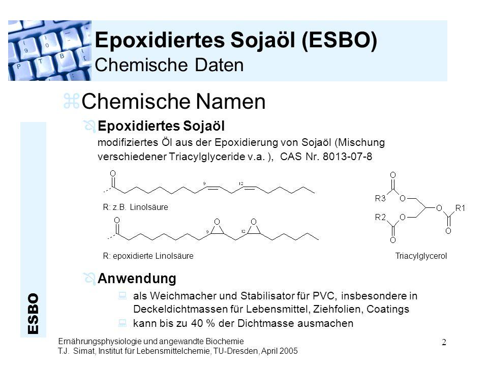 Epoxidiertes Sojaöl (ESBO) Chemische Daten