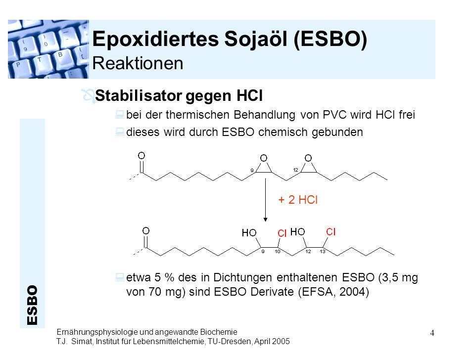 Epoxidiertes Sojaöl (ESBO) Reaktionen