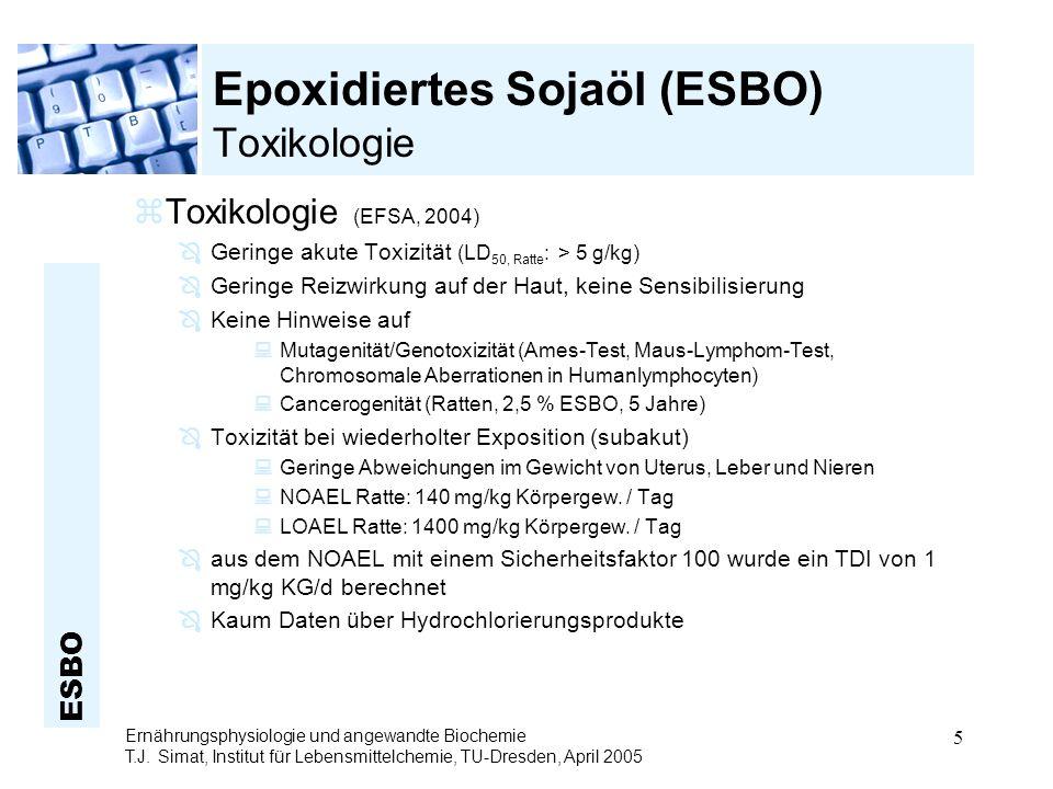Epoxidiertes Sojaöl (ESBO) Toxikologie