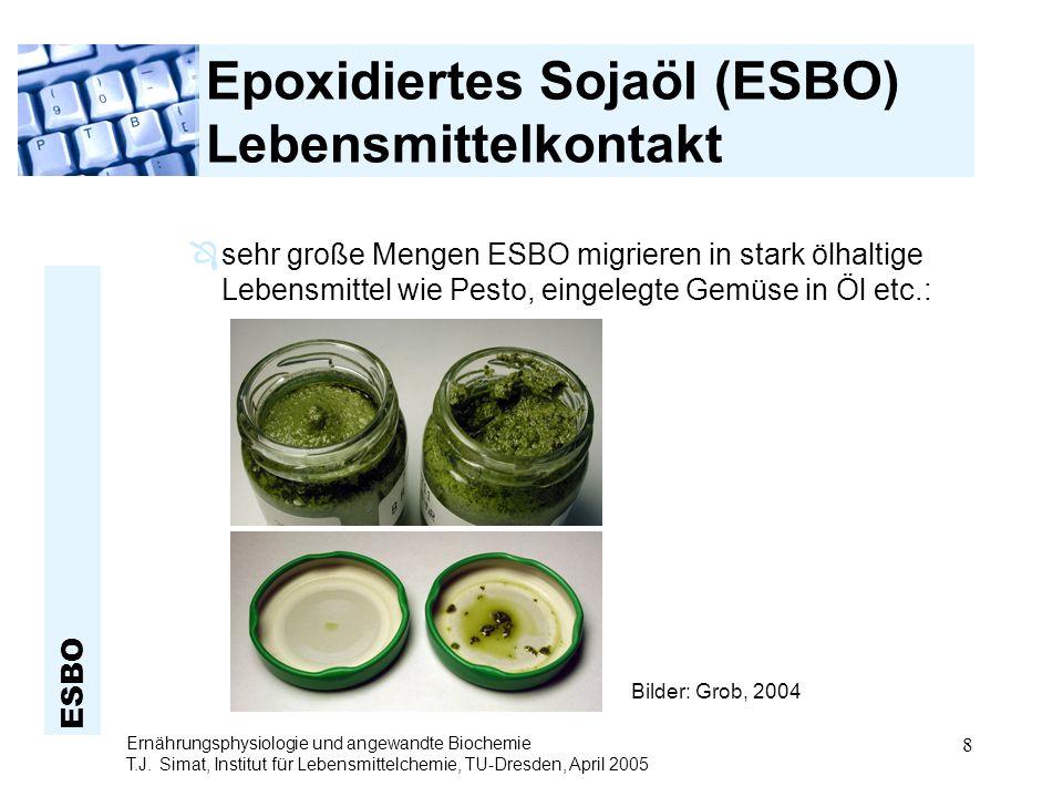 Epoxidiertes Sojaöl (ESBO) Lebensmittelkontakt