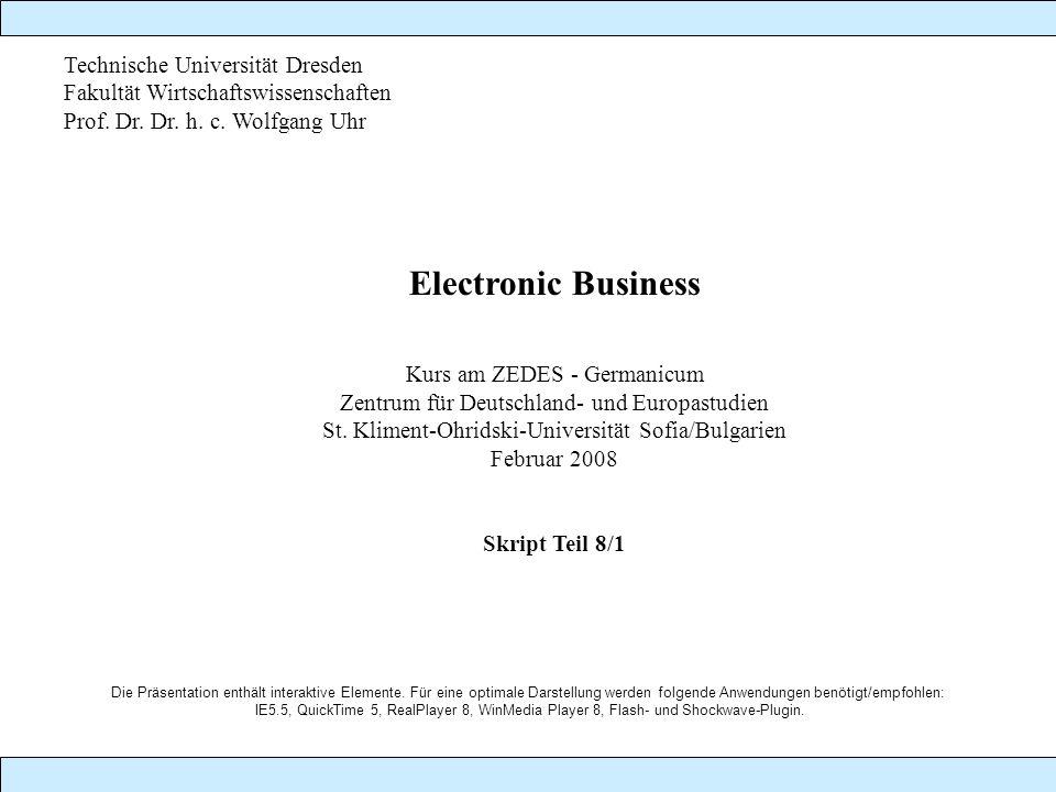 Electronic Business Technische Universität Dresden