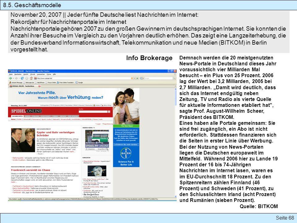 Info Brokerage 8.5. Geschäftsmodelle