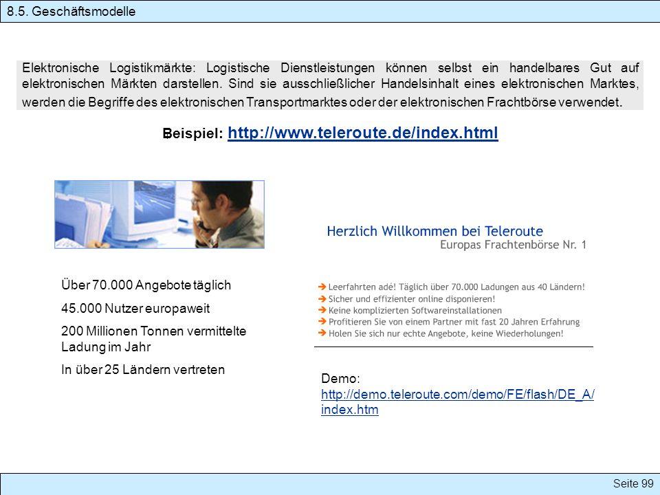 Beispiel: http://www.teleroute.de/index.html