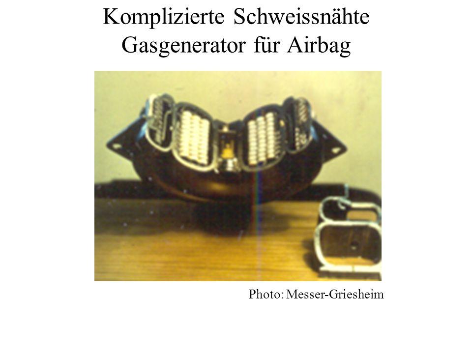 Komplizierte Schweissnähte Gasgenerator für Airbag