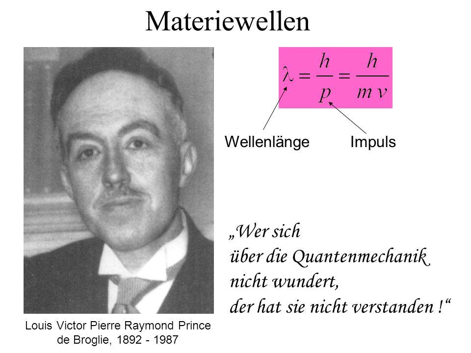 Louis Victor Pierre Raymond Prince de Broglie, 1892 - 1987