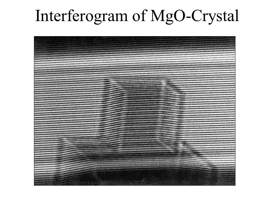 Interferogram of MgO-Crystal