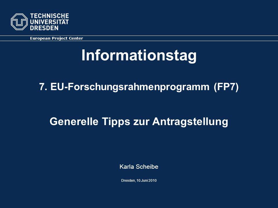 Informationstag 7. EU-Forschungsrahmenprogramm (FP7)