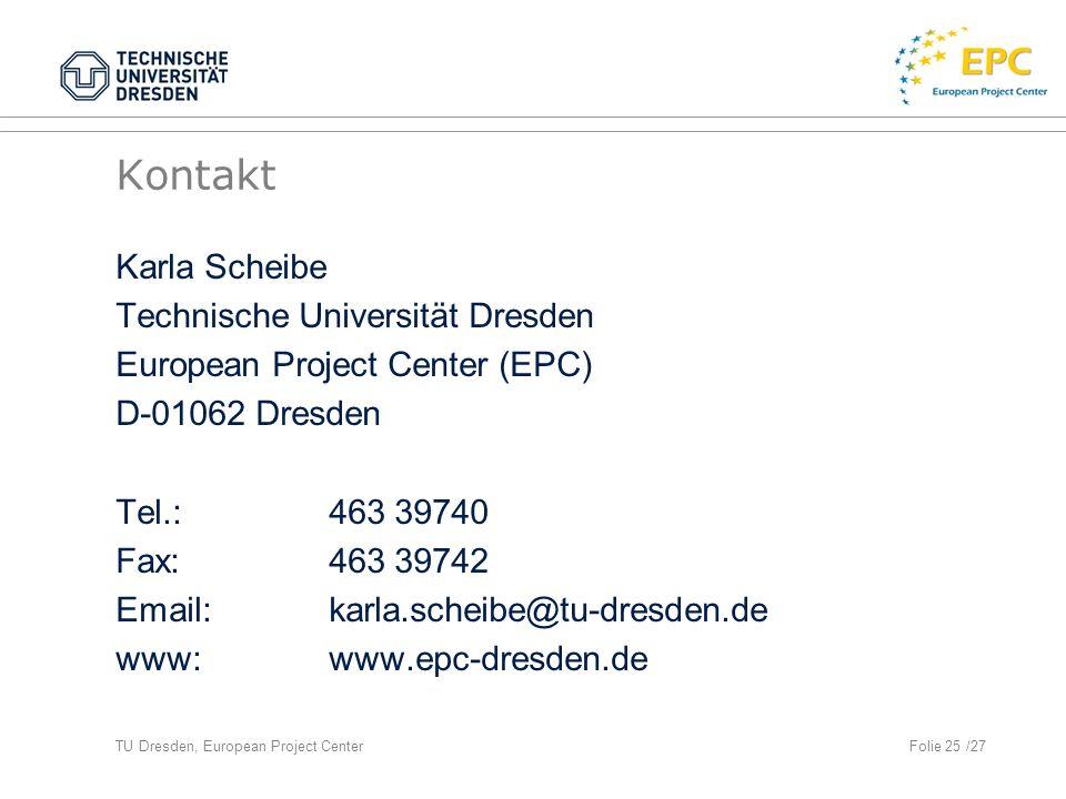 Kontakt Karla Scheibe Technische Universität Dresden