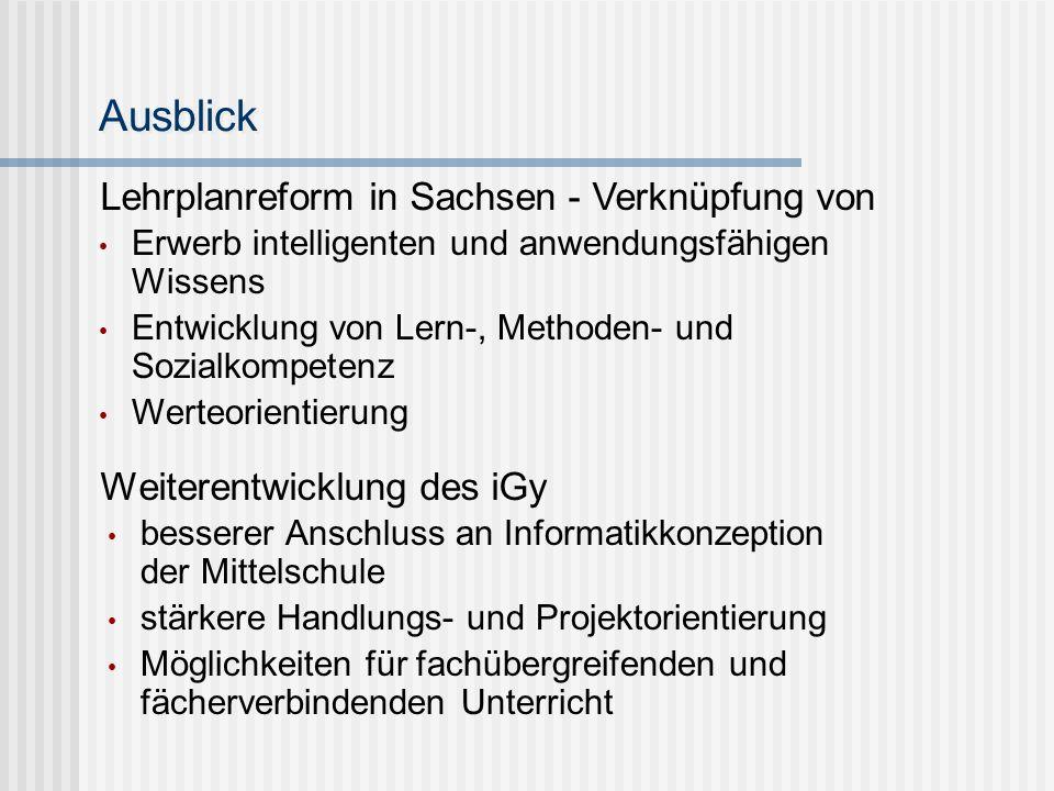 Ausblick Lehrplanreform in Sachsen - Verknüpfung von
